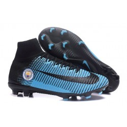 Nike Mercurial Superfly V FG ACC - Firm Ground Soccer Shoes - Manchester City FC Blue