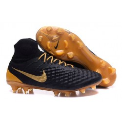 Nike Magista Obra II Men's Firm Ground Football Boots Black Gold