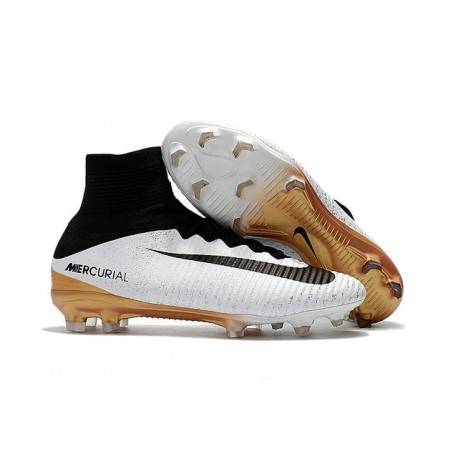 new arrival 0bf72 0dfb1 Nike Mercurial Superfly 5 FG - Mens Football Boots - White Golden Black