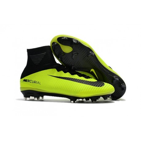 Nike Mercurial Superfly 5 FG - Mens Football Boots - Yellow Black