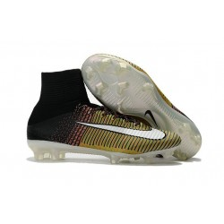 New 2017 Nike Mercurial Superfly V FG Cleats - Yellow Black White