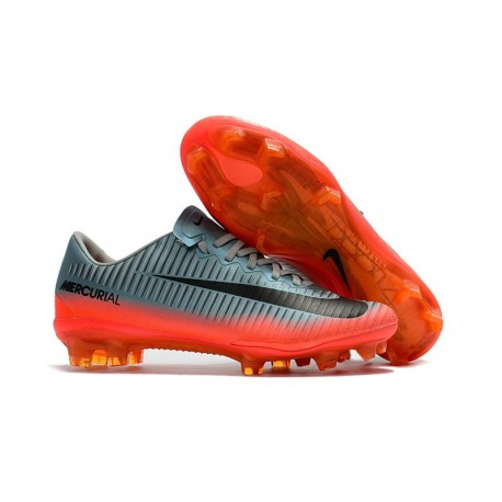 Nike Mercurial Vapor XI FG New Soccer Cleat Cool Grey/ Orange