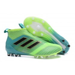 adidas ACE 17+ Purecontrol FG Mens Football Boots -Green Black