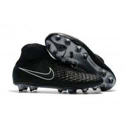 Nike Magista Obra II FG High Top Soccer Boot Black Silver