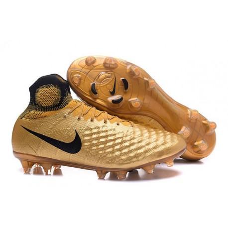 Nike Top Magista Obra 2 FG ACC Soccer Cleats Golden Black 3b3924bf69b7