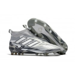 adidas ACE 17+ Purecontrol FG Mens Football Boots - Grey White Black