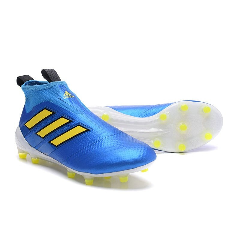 a72770abe7c New 2017 adidas ACE 17+ Purecontrol Laceless FG Cleat (Blue Yellow)  Maximize. Previous. Next