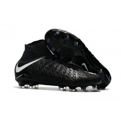 High Top Nike Hypervenom Phantom III Dynamic Fit FG Boot Black White