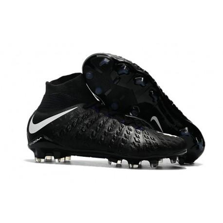 High Top Nike Hypervenom Phantom III Dynamic Fit FG Boot Black White