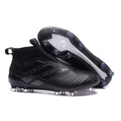 New 2017 adidas ACE 17+ Purecontrol Laceless FG Cleat (All Black)