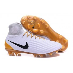 Nike Top Magista Obra 2 FG ACC Soccer Cleats White Gold