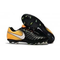 Nike 2017 Tiempo Legend VII FG Firm Ground Boots Black Yellow