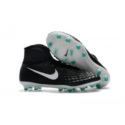Nike Magista Obra II FG High Top Soccer Boot Black White