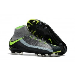 High Top Nike Hypervenom Phantom III Dynamic Fit FG Boot Air Max Edition Black Gray