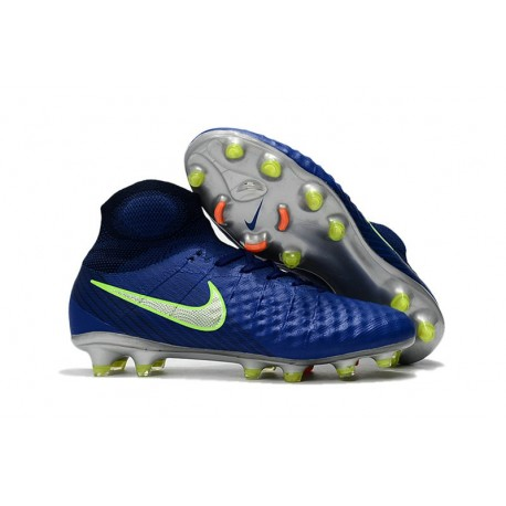 Nike Magista Obra II FG High Top Soccer Boot Dark Blue