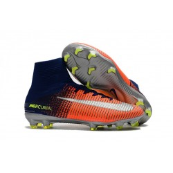 Soccer Boots 2017 - Nike Mercurial Superfly 5 FG - Blue Crimson Silver