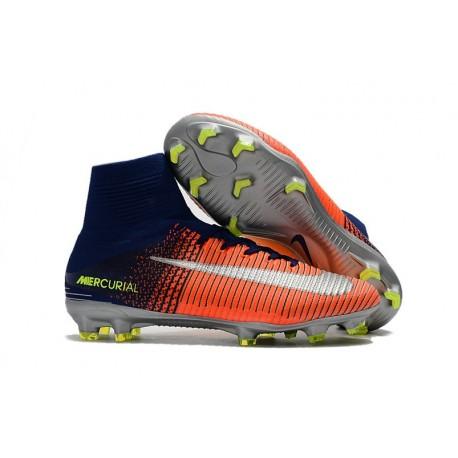Soccer Boots 2017 - Nike Mercurial Superfly 5 FG - Blue Crimson Silver