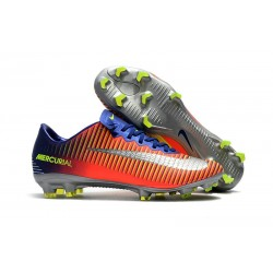 Nike Mercurial Vapor XI FG 2017 Firm Ground Boots Royal Blue Chrome Crimson