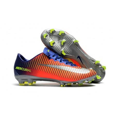 Nike Mercurial Vapor XI FG 2017 Firm Ground Boots Royal Blue Chrome Crimson