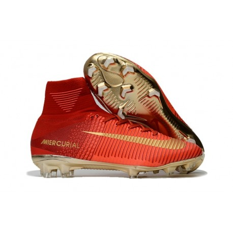 Soccer Boots 2017 - Nike Mercurial Superfly 5 FG - Red Gold