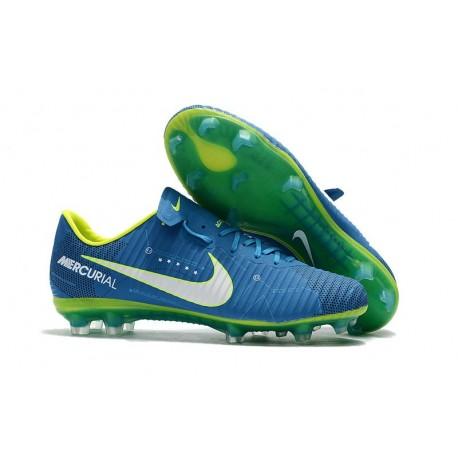 Nike Mercurial Vapor XI FG 2017 Neymar Firm Ground Boots Blue White