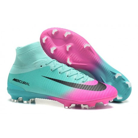 Soccer Boots 2017 - Nike Mercurial Superfly 5 FG - Blue Pink Black