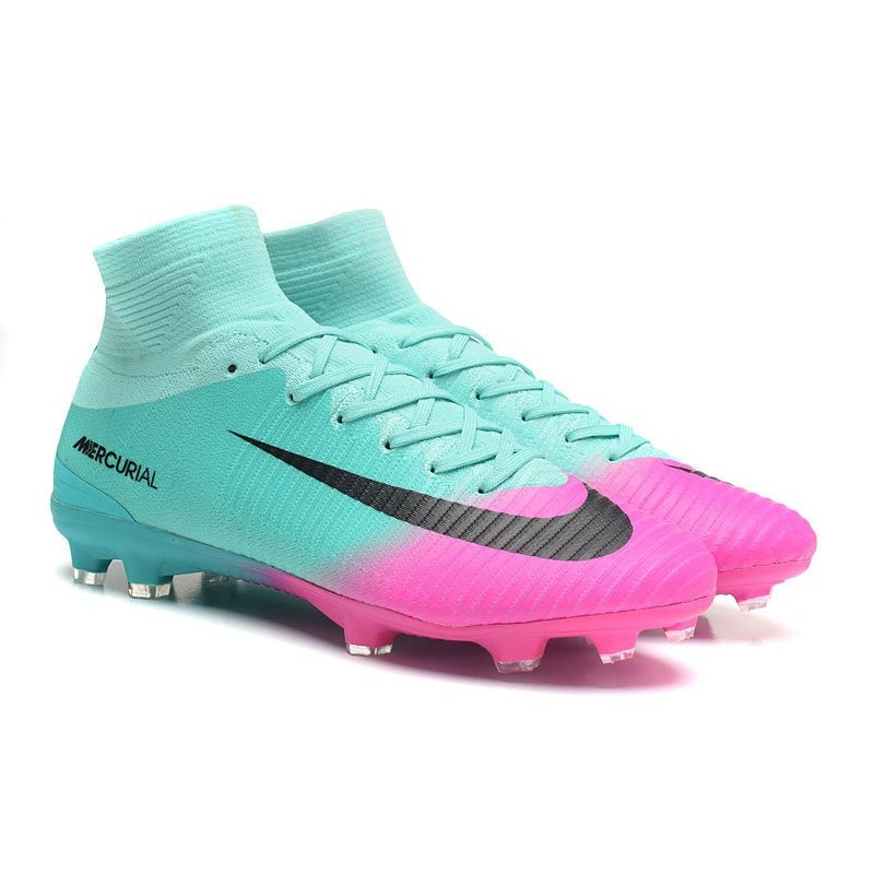 f35c0cce0b4 Soccer Boots 2017 - Nike Mercurial Superfly 5 FG - Blue Pink Black  Maximize. Previous. Next