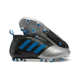 adidas New ACE 17+ Purecontrol FG Football Boots Black Silver Blue