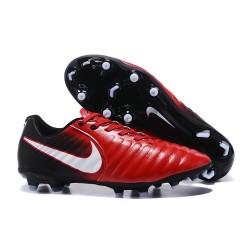Nike 2017 Tiempo Legend VII FG Firm Ground Boots Red Black White