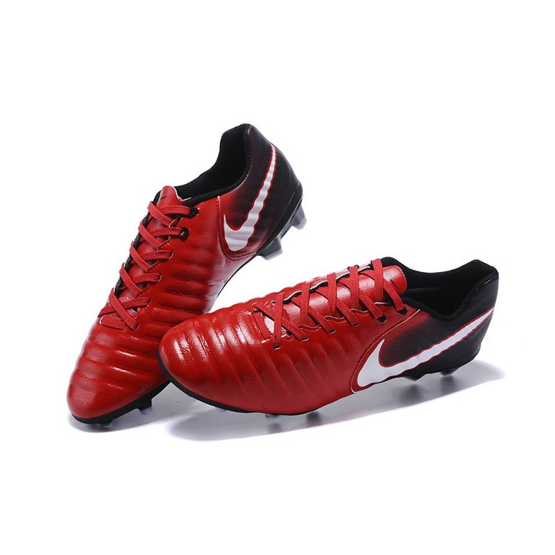 best service d19be ec37a Nike 2017 Tiempo Legend VII FG Firm Ground Boots Red Black White