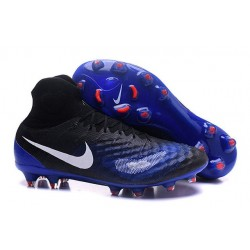Nike Top Magista Obra 2 FG ACC Soccer Cleats Blue Black
