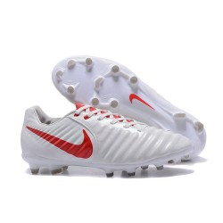 Nike 2017 Tiempo Legend VII FG Firm Ground Boots White Red