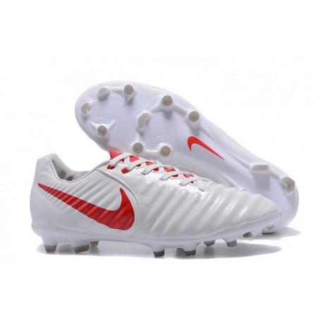 Nike 2017 Tiempo Legend VII FG Firm Ground Boots White Red