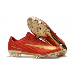Nike Mercurial Vapor XI CR7 FG 2017 Firm Ground Boots Red Gold