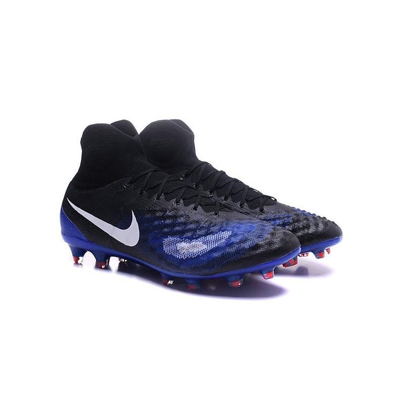 Nike Top Magista Obra 2 FG ACC Soccer Cleats Blue Black