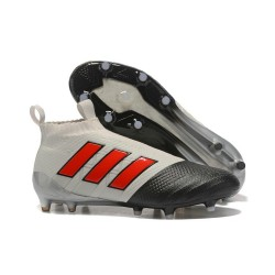 adidas New ACE 17+ Purecontrol FG Football Boots Grey Red Black