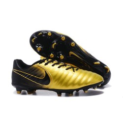 Nike Tiempo Legend VII FG K-Leather News Soccer Cleat - Golden Black