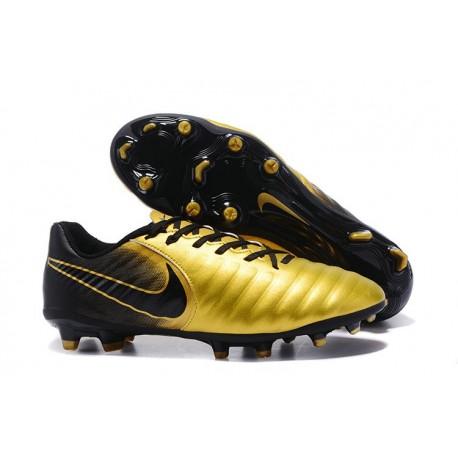 Nike Tiempo Legend VII FG K-Leather News Soccer Cleat - Golden Black