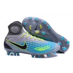 Nike Top Magista Obra 2 FG ACC Soccer Cleats Grey Blue Black