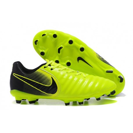 Nike Tiempo Legend VII FG K-Leather News Soccer Cleat - Green Black