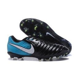 Nike Tiempo Legend VII FG K-Leather News Soccer Cleat - Black Blue