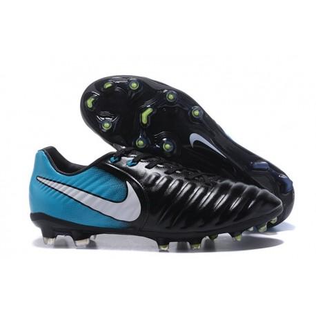 Nike Tiempo Legend VII FG K-Leather News Soccer Cleat - Black Blue