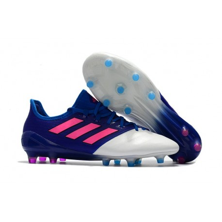adidas Ace 17.1 Leather FG Mens Soccer Cleats (Blue Pink White)