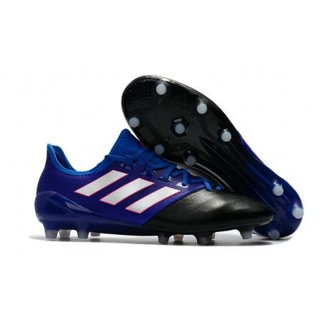 hot sale online 9bbeb c8e0b adidas Ace 17.1 Leather FG Mens Soccer Cleats (Blue Black White)