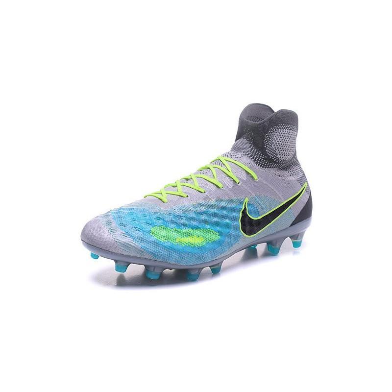 online store 56f40 55b0e Nike Top Magista Obra 2 FG ACC Soccer Cleats Grey Blue Black