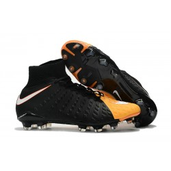High Top Nike Hypervenom Phantom III Dynamic Fit FG Boot Orange Black