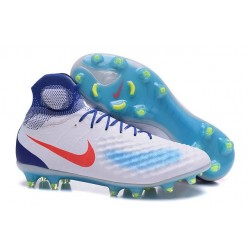 Nike Top Magista Obra 2 FG ACC Soccer Cleats White Blue Red