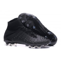 High Top Nike Hypervenom Phantom III Dynamic Fit FG Boot All Black