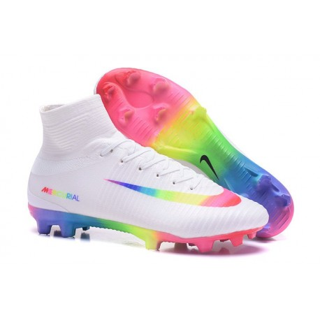 c9e938d40 Nike Mercurial Superfly 5 FG New Soccer Boots White Colorful