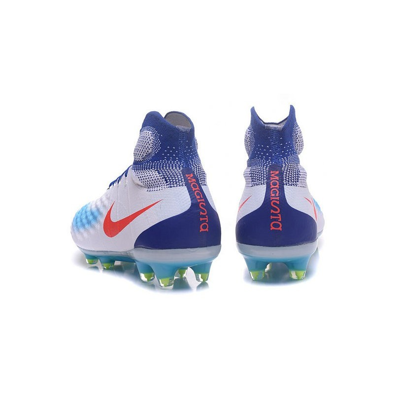 sale retailer 48fbc 9eded Nike Top Magista Obra 2 FG ACC Soccer Cleats White Blue Red